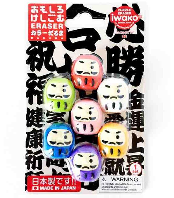 Iwako Puzzle Eraser - Daruma - (Gomas de borrar con diseños) Hecho en Japón
